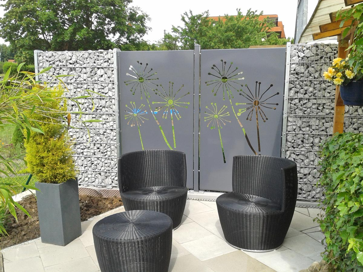 sichtschutz terrasse metall. Black Bedroom Furniture Sets. Home Design Ideas